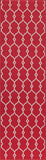 "Momeni BAJA0BAJ-2RED1837 EGYPTIAN MACHINE MADE Collection Red Finish Rugs 1'8""X3'7"""