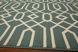 "Momeni BAJA0BAJ-3BLU860D EGYPTIAN MACHINE MADE Collection Blue Finish Rugs 8'6""X13'"