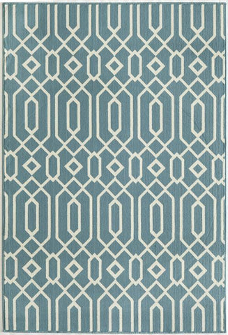 Momeni BAJA0BAJ-3BLU860D EGYPTIAN MACHINE MADE Baja Collection Blue Finish Rugs
