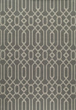 Momeni BAJA0BAJ-3GRY3B57 EGYPTIAN MACHINE MADE Baja Collection Grey Finish Rugs