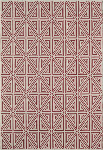 Momeni BAJA0BAJ-4RED3B57 EGYPTIAN MACHINE MADE Baja Collection Red Finish Rugs