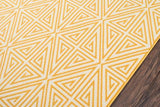 "Momeni BAJA0BAJ-4YEL3B57 EGYPTIAN MACHINE MADE Collection Yellow Finish Rugs 3'11""X5'7"""