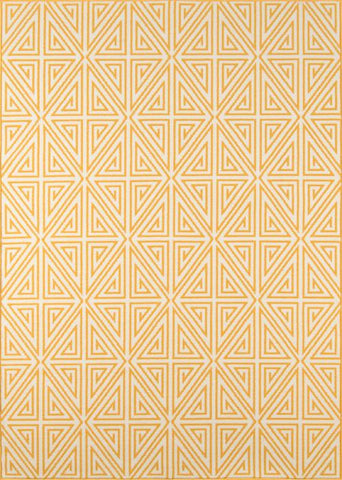 Momeni BAJA0BAJ-4YEL3B57 EGYPTIAN MACHINE MADE Baja Collection Yellow Finish Rugs