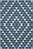 Momeni BAJA0BAJ-5BLU3B57 EGYPTIAN MACHINE MADE Baja Collection Blue Finish Rugs