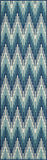 "Momeni BAJA0BAJ-6BLU2346 EGYPTIAN MACHINE MADE Collection Blue Finish Rugs 2'3""X4'6"""