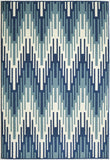 Momeni BAJA0BAJ-6BLU2346 EGYPTIAN MACHINE MADE Baja Collection Blue Finish Rugs
