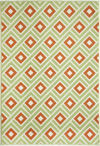Momeni BAJA0BAJ-7GRN6796 EGYPTIAN MACHINE MADE Baja Collection Green Finish Rugs