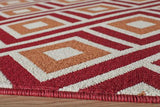 "Momeni BAJA0BAJ-7RED2346 EGYPTIAN MACHINE MADE Collection Red Finish Rugs 2'3""X4'6"""