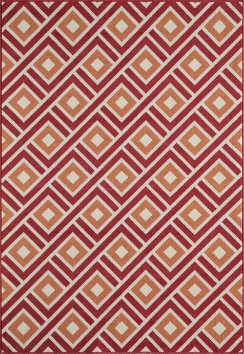Momeni BAJA0BAJ-7RED2346 EGYPTIAN MACHINE MADE Collection Red Finish Rugs 2'3X4'6