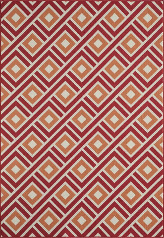Momeni BAJA0BAJ-7RED2346 EGYPTIAN MACHINE MADE Baja Collection Red Finish Rugs