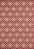 Momeni BAJA0BAJ-7RED1837 EGYPTIAN MACHINE MADE Baja Collection Red Finish Rugs