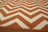"Momeni BAJA0BAJ-9ORG3B57 EGYPTIAN MACHINE MADE Collection Orange Finish Rugs 3'11""X5'7"""