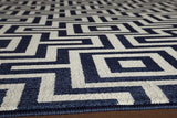 "Momeni BAJA0BAJ10NVY860D EGYPTIAN MACHINE MADE Collection Navy Finish Rugs 8'6""X13'"