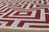 "Momeni BAJA0BAJ10RED1837 EGYPTIAN MACHINE MADE Collection Red Finish Rugs 1'8""X3'7"""