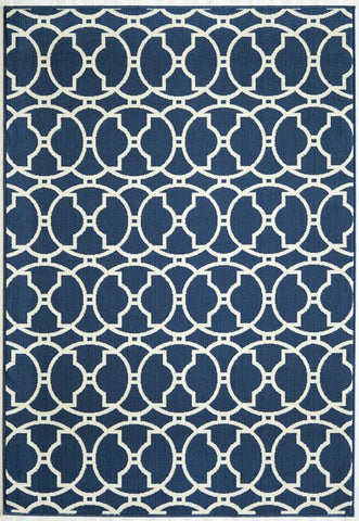 Momeni BAJA0BAJ11NVY1837 EGYPTIAN MACHINE MADE Baja Collection Navy Finish Rugs
