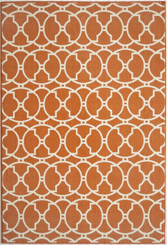 Momeni BAJA0BAJ11ORG3B57 EGYPTIAN MACHINE MADE Baja Collection Orange Finish Rugs