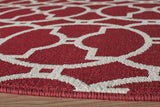 "Momeni BAJA0BAJ11RED2346 EGYPTIAN MACHINE MADE Collection Red Finish Rugs 2'3""X4'6"""