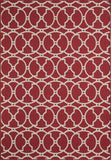 Momeni BAJA0BAJ11RED2346 EGYPTIAN MACHINE MADE Baja Collection Red Finish Rugs