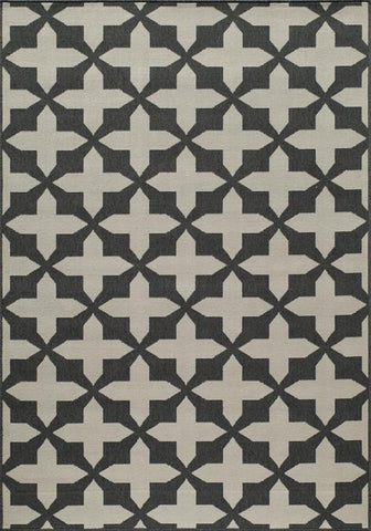 Momeni BAJA0BAJ12CHR5376 EGYPTIAN MACHINE MADE Baja Collection Charcoal Finish Rugs