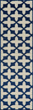 "Momeni BAJA0BAJ12NVY7AAA EGYPTIAN MACHINE MADE Collection Navy Finish Rugs 7'10""X10'10"""