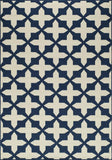 Momeni BAJA0BAJ12NVY7AAA EGYPTIAN MACHINE MADE Baja Collection Navy Finish Rugs