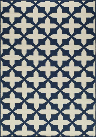 Momeni BAJA0BAJ12NVY6796 EGYPTIAN MACHINE MADE Baja Collection Navy Finish Rugs