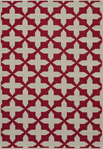 Momeni BAJA0BAJ12RED5376 EGYPTIAN MACHINE MADE Baja Collection Red Finish Rugs