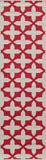 "Momeni BAJA0BAJ12RED860D EGYPTIAN MACHINE MADE Collection Red Finish Rugs 8'6""X13'"