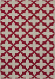 Momeni BAJA0BAJ12RED860D EGYPTIAN MACHINE MADE Baja Collection Red Finish Rugs