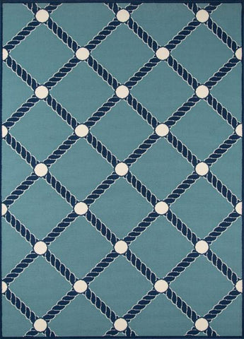 Momeni BAJA0BAJ15BLU5376 EGYPTIAN MACHINE MADE Baja Collection Blue Finish Rugs