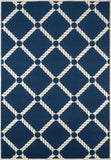 Momeni BAJA0BAJ15NVY3B57 EGYPTIAN MACHINE MADE Baja Collection Navy Finish Rugs