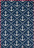 Momeni BAJA0BAJ16NVY1837 EGYPTIAN MACHINE MADE Baja Collection Navy Finish Rugs