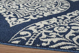 "Momeni BAJA0BAJ17NVY2346 EGYPTIAN MACHINE MADE Collection Navy Finish Rugs 2'3""X4'6"""