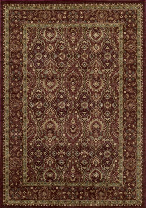 Momeni BELMOBE-05RED2376 Turkish Machine Made Collection Red Finish Runner 2'3