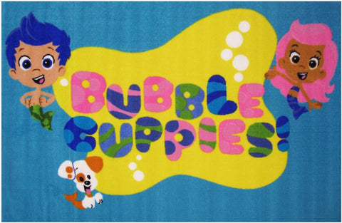 Fun Rugs BG-41 3958 Bubble Guppies Collection Bubble Guppies Multi-Color - 39 x 58 in. - Peazz.com