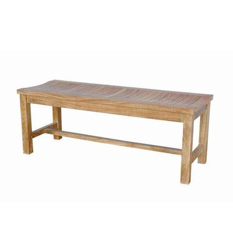 Anderson Teak BH-448B Casablanca 2-Seater Backless Bench - Peazz.com