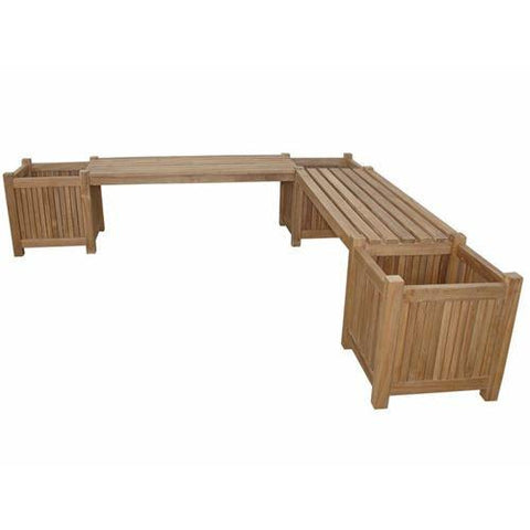 Bayden Hill BH-7121PL Planter Bench (2 bench + 3 planter box) - Peazz.com