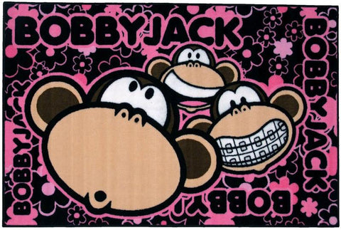 Fun Rugs BJ-21 3958 Bobby Jack Collection Bobby Faces Multi-Color - 39 x 58 in. - Peazz.com