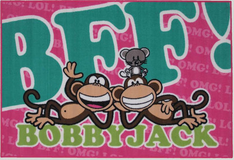 Fun Rugs BJ-23 3958 Bobby Jack Collection BFF-Text Multi-Color - 39 x 58 in. - Peazz.com