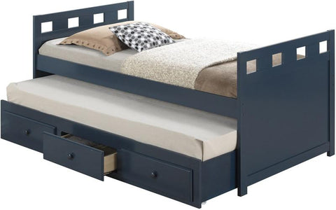 Broyhill Kids 09640-34M Breckenridge Captain'S Bed W/Drawer-Blue (Kit) - Peazz.com