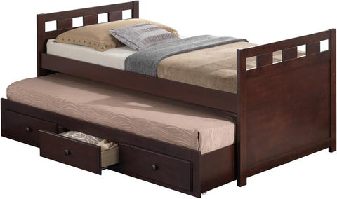 Broyhill Kids 09640-349 Breckenridge Captain'S Bed W/Drawer-Espresso (Kit) - Peazz.com