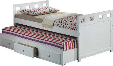 Broyhill Kids 09640-341 Breckenridge Captain'S Bed W/Drawer--White (Kit) - Peazz.com