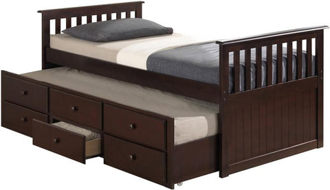 Broyhill Kids 09640-319 Marco Island Captain'S Bed W/Drawer--Espresso (Kit) - Peazz.com