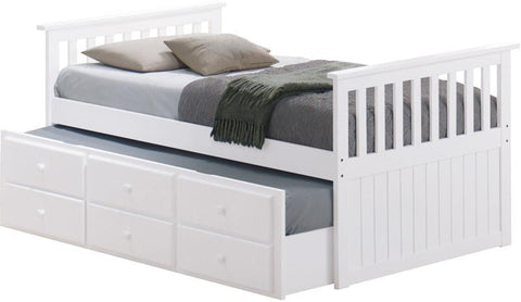 Broyhill Kids 09640-311 Marco Island Captain'S Bed W/Drawer--White (Kit) - Peazz.com
