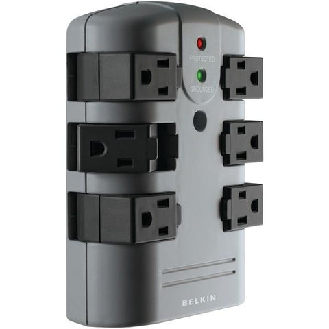 Belkin BP106000 6-Outlet Pivot-Plug Surge Protector Wall Tap - Peazz.com