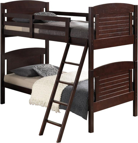 Broyhill Kids 09620-119 Nantucket Bunk Bed-Espresso (Kit) - Peazz.com
