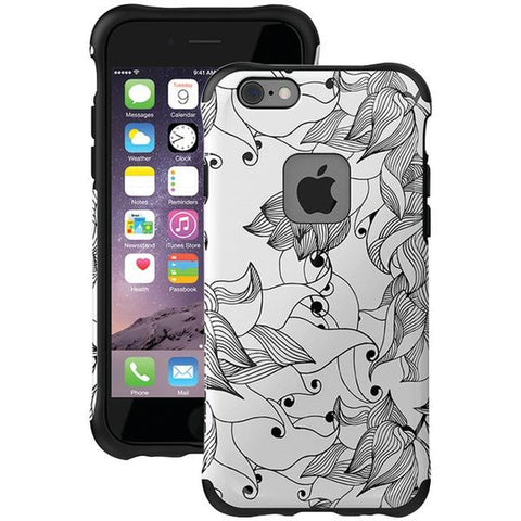 Ballistic Case Co. UT1667-B29N iPhone 6/6s Urbanite Select Case (Black Textured TPU with Tiger Lily Pattern) - Peazz.com