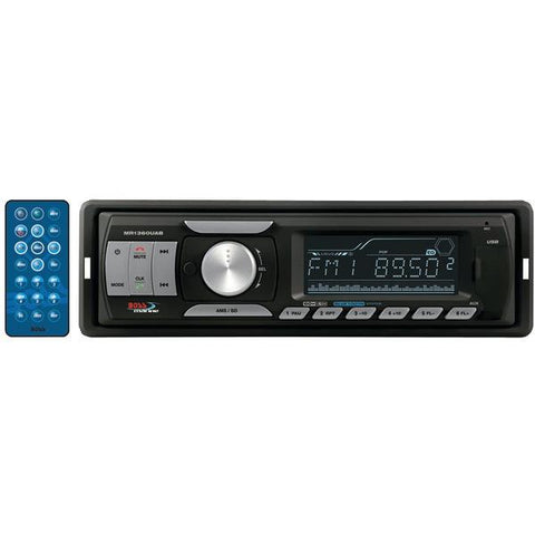 Boss Audio Systems MR1360UAB Marine Single-DIN In-Dash Mechless AM/FM Receiver with Bluetooth - Peazz.com