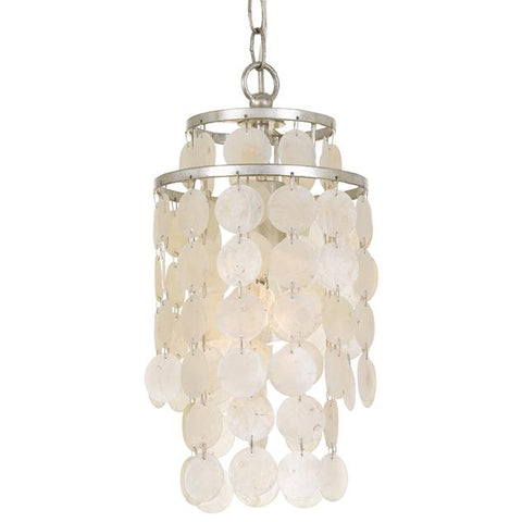Crystorama Brielle 1 Light Antique Silver Mini Chandelier