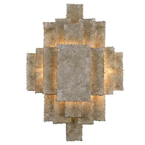 Crystorama Bronson 2 Light Oxidized Silver Sconce